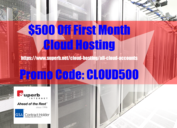 Cloud Hosting | $500 Off First Month | Promo Code: CLOUD500