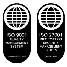 ISO9001 and ISO27001 logos